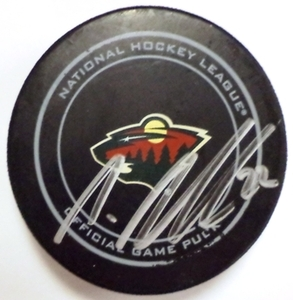 Minnesota Wild #22 Nino Niederreiter Game Used Goal Puck October 12, 2013 vs. Dallas Stars