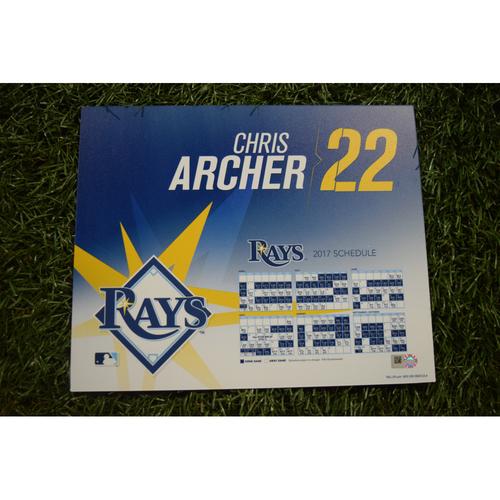 2017 Team-Issued Locker Tag - Chris Archer