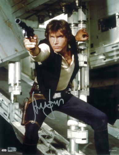 Harrison Ford as Han Solo Autographed Silver Ink 11x14 Photo