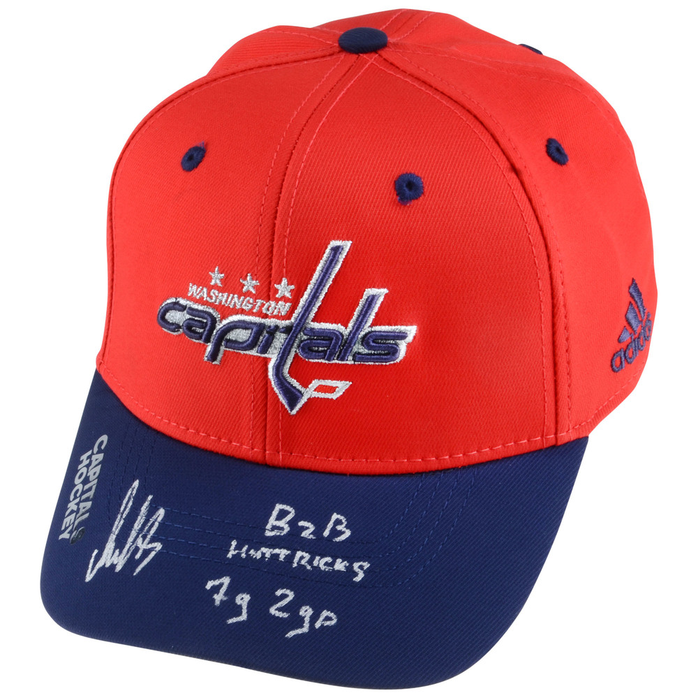 Alex Ovechkin Washington Capitals Autographed Adidas Cap with Multiple Inscriptions - #8 of a Limited Edition of 25