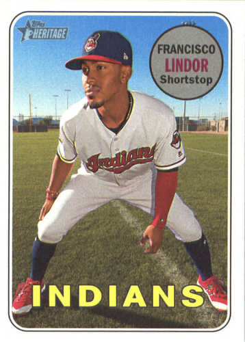 Photo of 2018 Topps Heritage #145 Francisco Lindor
