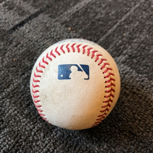 Photo of 2019 Game Used Baseball - San Francisco Giants vs. New York Yankees - 4/26/19 - T-6: Madison Bumgarner to James Paxton - Foul Bunt