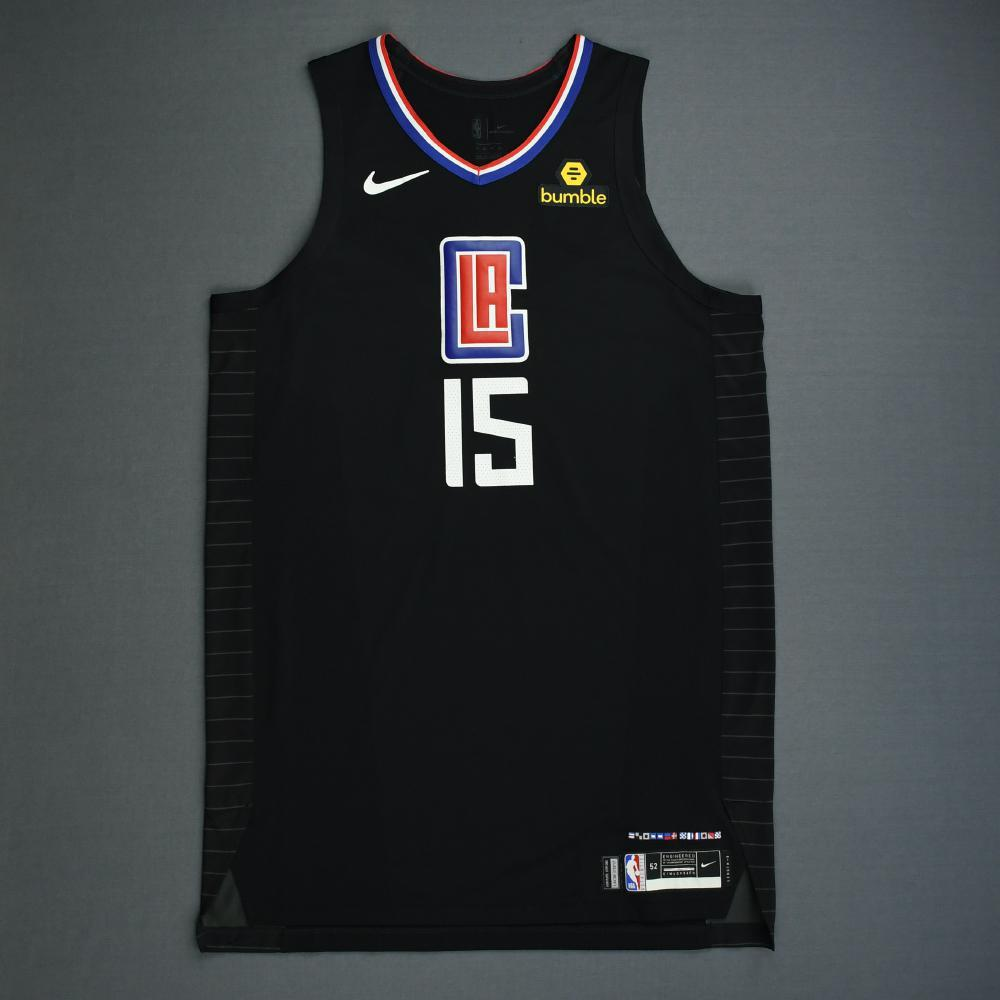 Johnathan Motley - Los Angeles Clippers - 2019 NBA Playoffs - Game-Issued Black Statement Edition Jersey
