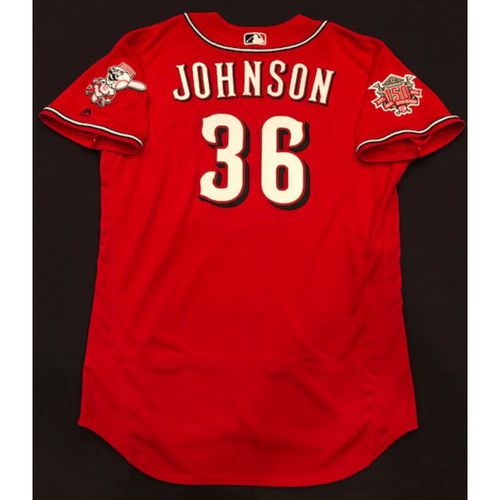 "Photo of Derek Johnson -- Team-Issued ""Los Rojos"" Jersey -- D-backs vs. Reds on 9/6/19 -- Jersey Size 44"