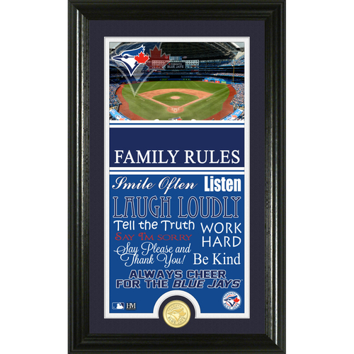 Photo of Toronto Blue Jays Personalized Family Rules Photo Mint