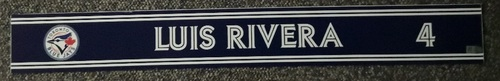 Photo of Authenticated Game Used Locker Name Plate - #4 Luis Rivera (Sept 24, 18)