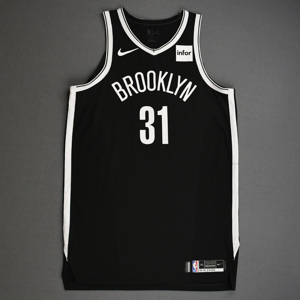 Jarrett Allen - Brooklyn Nets - NBA China Games - Game-Worn Icon Edition Jersey - 2019-20 NBA Season