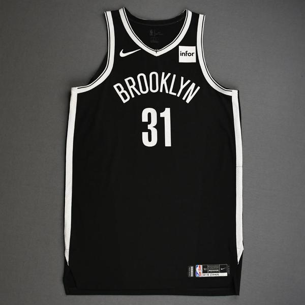 Image of Jarrett Allen - Brooklyn Nets - NBA China Games - Game-Worn Icon Edition Jersey - 2019-20 NBA Season