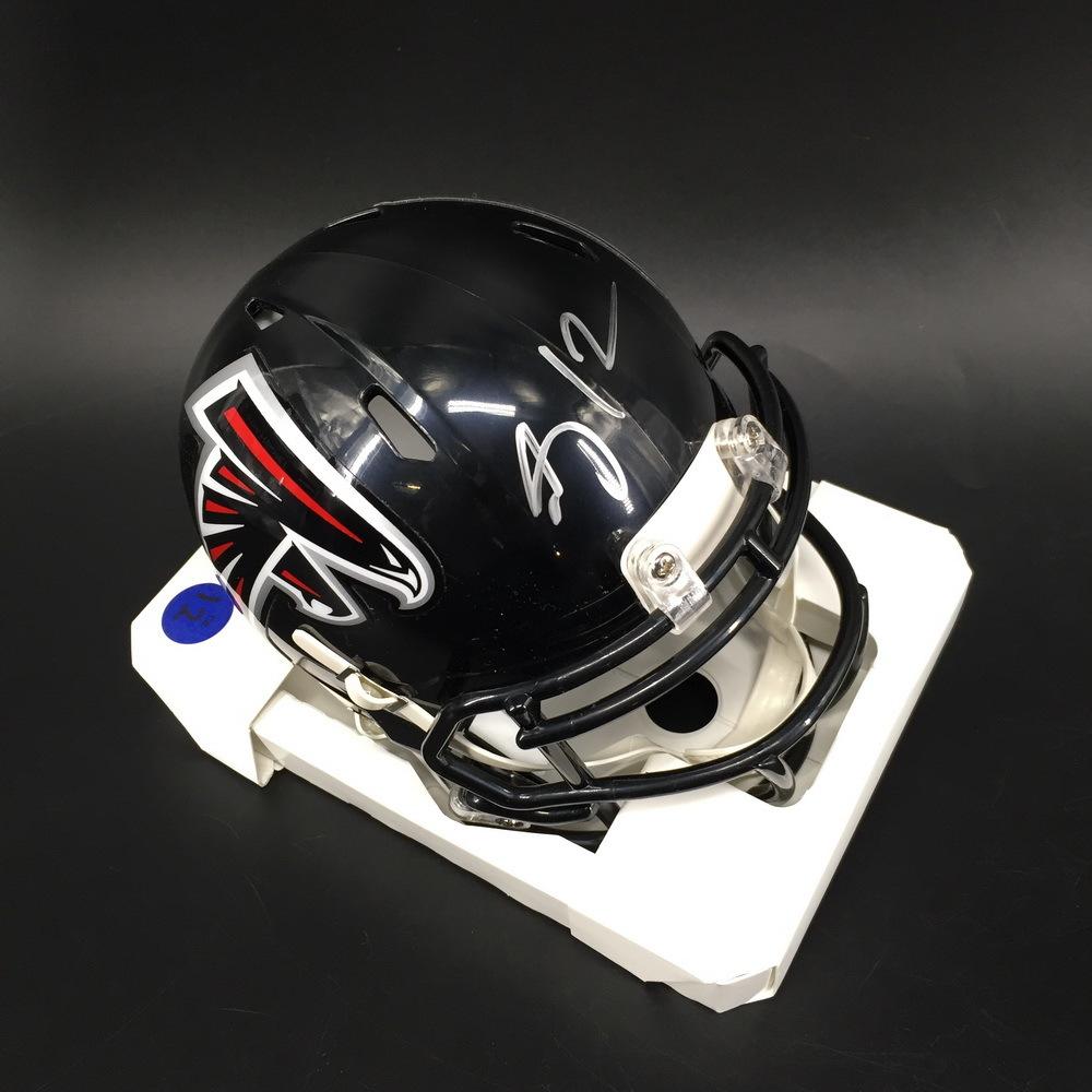 Falcons - Mohamed Sanu Signed Mini Helmet