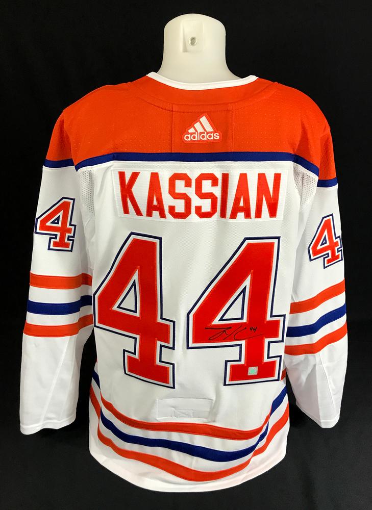 Zack Kassian #44 - Autographed Edmonton Oilers Reverse Retro Adidas Retail Pro Authentic Alternate Jersey
