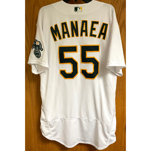 Photo of Game-Used Jersey - Sean Manaea; Win #1 (4/20/21; GM 1)