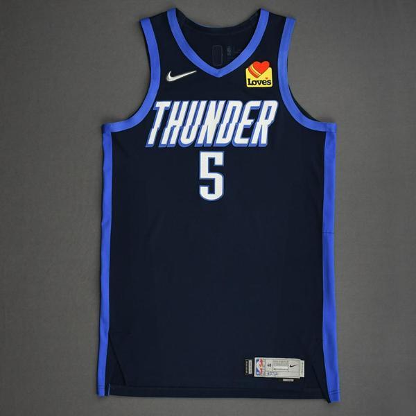 Image of Luguentz Dort - Oklahoma City Thunder - Game-Worn Earned Edition Jersey - 2020-21 NBA Season