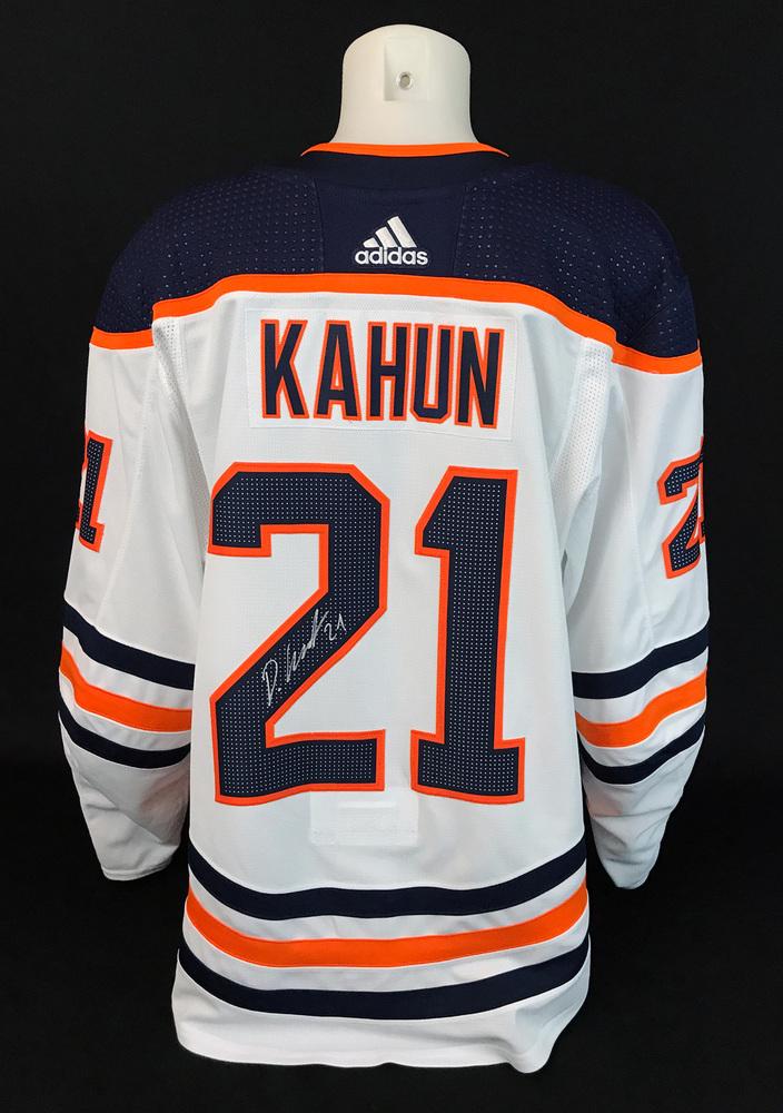 Dominik Kahun #21 - Autographed 2020-21 Edmonton Oilers vs Calgary Flames Battle of Alberta Game-Worn Jersey
