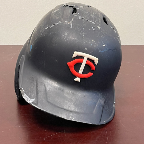 Photo of Minnesota Twins: Game-Used Left Handed Helmet - Jorge Polanco -  Authenticated for 9 games