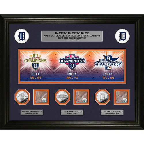 Detroit Tigers Back To Back to Back AL Central Champs Collectible