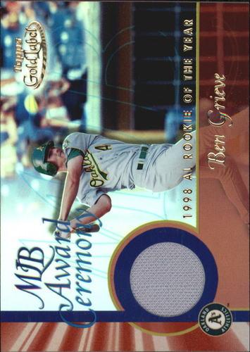 Photo of 2001 Topps Gold Label MLB Award Ceremony Relics #BG Ben Grieve ROY Jsy