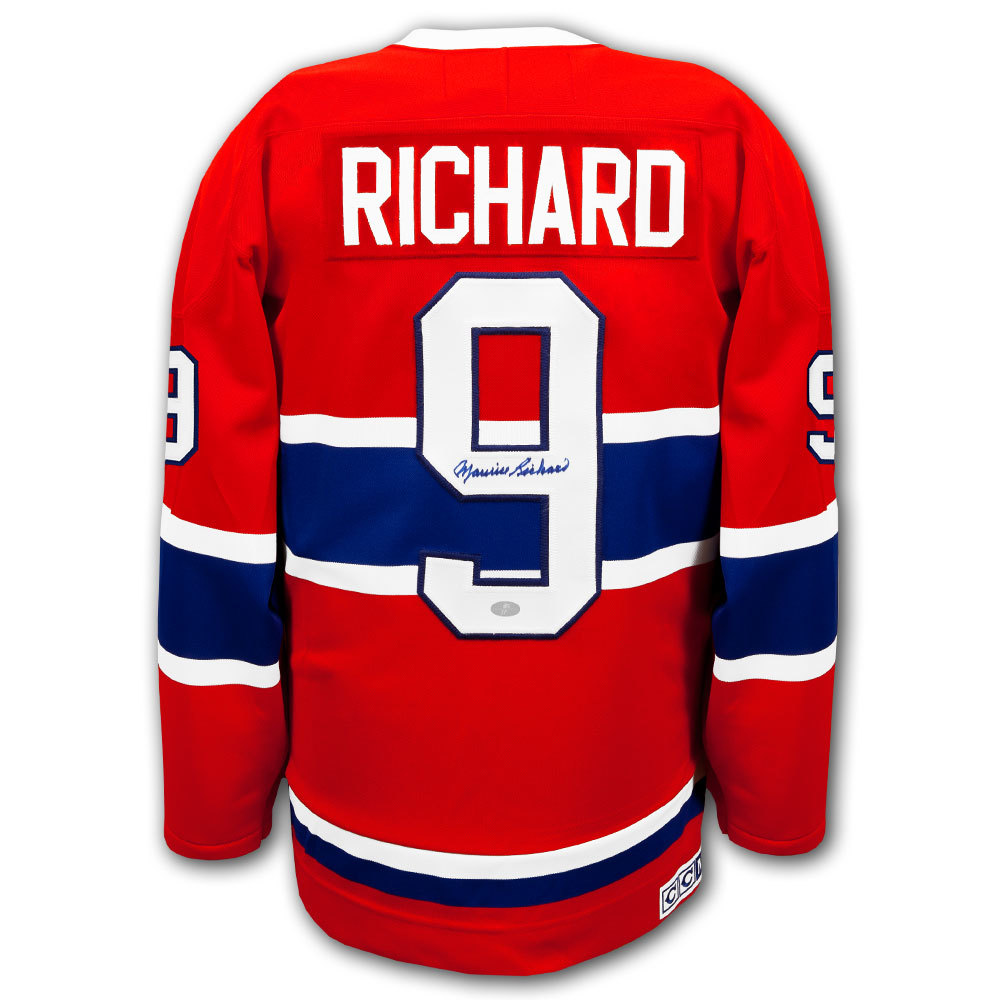 Maurice Richard Montreal Canadiens CCM Autographed Jersey