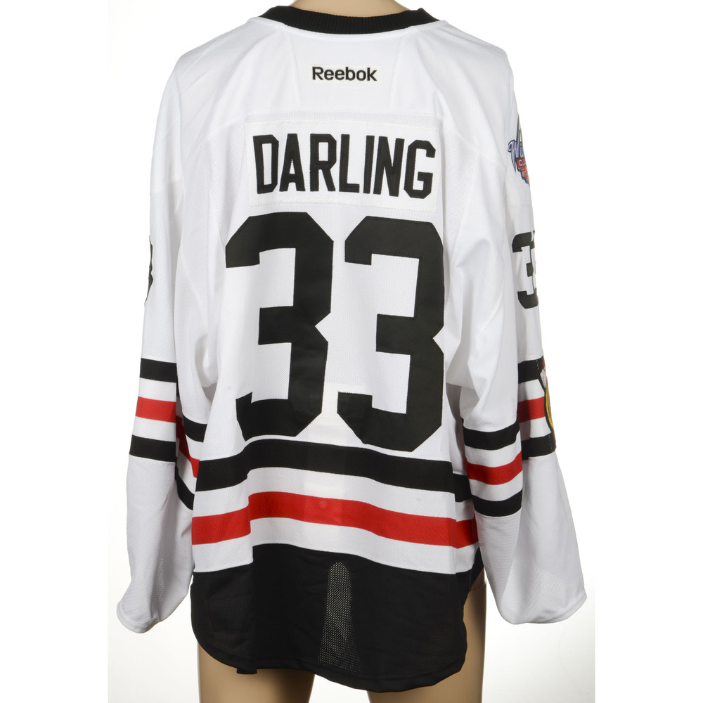 Scott Darling Chicago Blackhawks 2017 Winter Classic Game-Worn Jersey eb78b8545