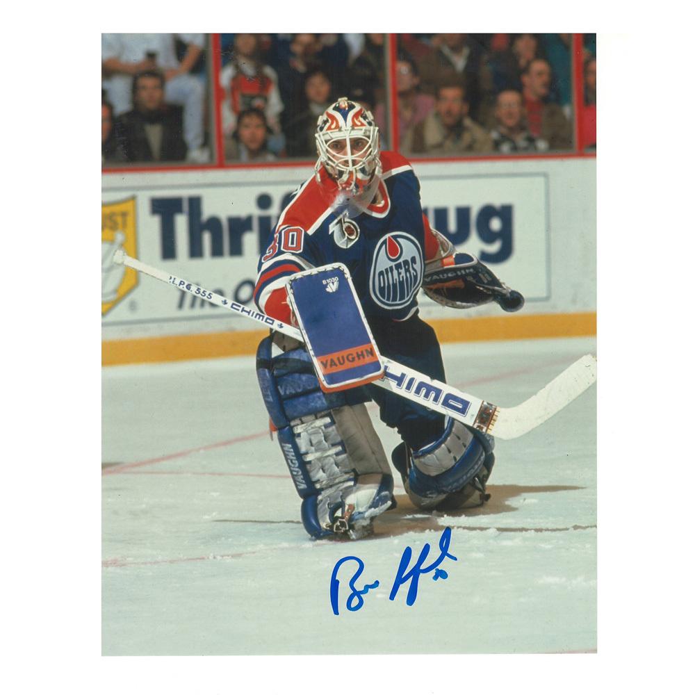 BILL RANFORD Signed Edmonton Oilers 8 X 10 Photo - 70371