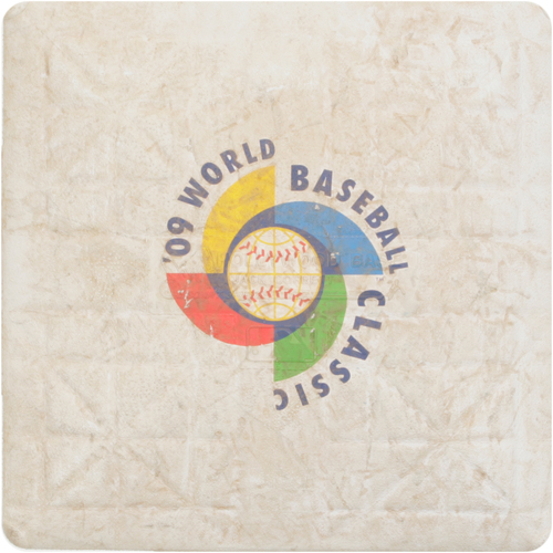 2009 WBC: Round 1 - Chinese Taipei vs. China Game-Used 1st Base
