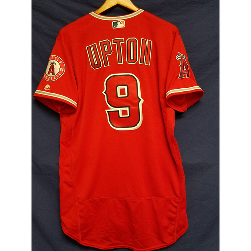 Photo of Justin Upton Game-Used Alternate Red Jersey