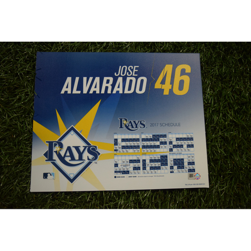 2017 Team-Issued Locker Tag - Jose Alvarado