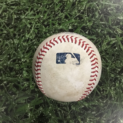 Photo of Game-Used Baseball CLE@MIL  05/09/18 - Junior Guerra - Francisco Lindor: Single