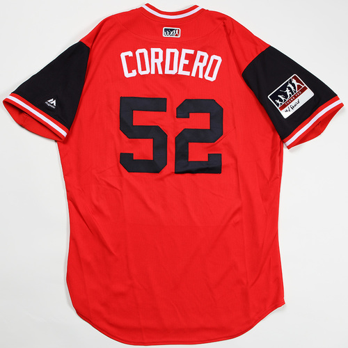 "Photo of Jimmy ""Cordero"" Cordero Washington Nationals Game-Used Jersey 2018 Players' Weekend Jersey"