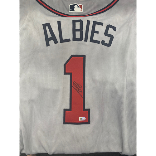 Photo of Ozzie Albies Autographed Jersey
