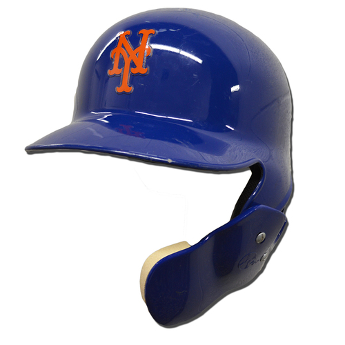 Photo of Amed Rosario #1 - Game Used Batting Helmet - Mets vs. Marlins - 9/30/18