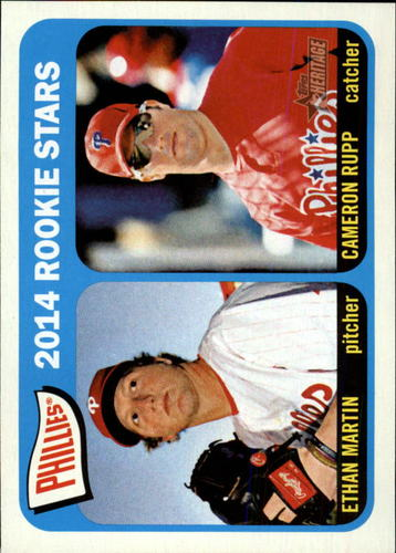 Photo of 2014 Topps Heritage #107 Ethan Martin RC/Cameron Rupp RC