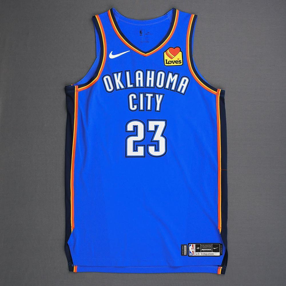 Terrance Ferguson - Oklahoma City Thunder - Game-Worn Icon Edition Jersey - 2019 Playoffs
