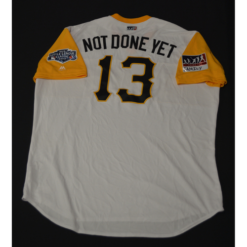"Photo of 2019 Little League Classic - Game Used Jersey - Clint ""Not Done Yet"" Hurdle,  Chicago Cubs at Pittsburgh Pirates - 8/18/2019 (Size - 54)"