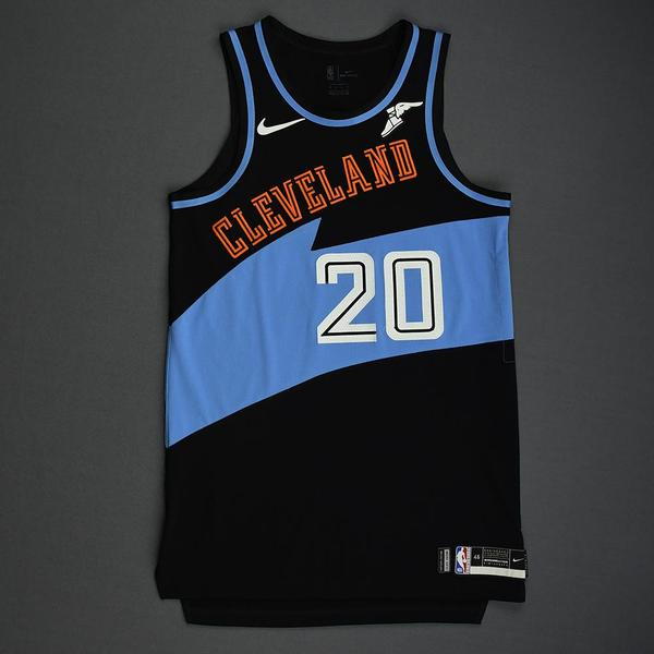 Image of Brandon Knight - Cleveland Cavaliers - Game-Worn Classic Edition 1994-96 Road Jersey - Dressed, Did Not Play - 2019-20 Season