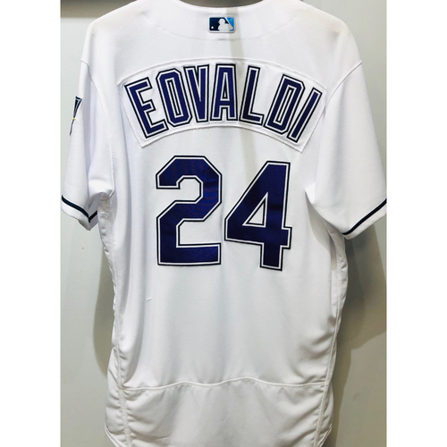 Photo of 2018 Team Issued Devil Rays Jersey: Nate Eovaldi (size 46)