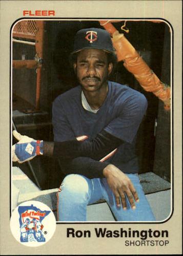 Photo of 1983 Fleer #626 Ron Washington RC