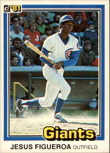Photo of 1981 Donruss #556A Jesus Figueroa P1/Career Highlights:/Had an .