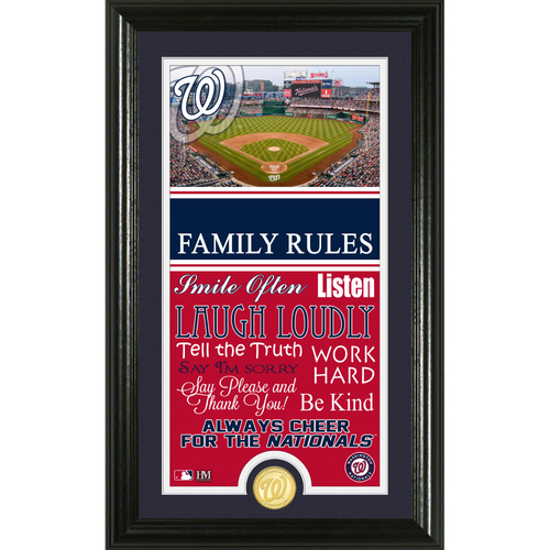 Photo of Washington Nationals Personalized Family Rules Photo Mint