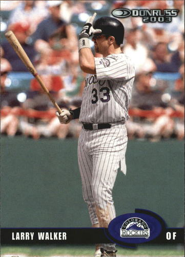 Photo of 2003 Donruss #272 Larry Walker