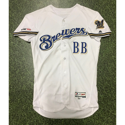 Photo of Bat Boy 2019 Team-Issued Home White Jersey - Size 44