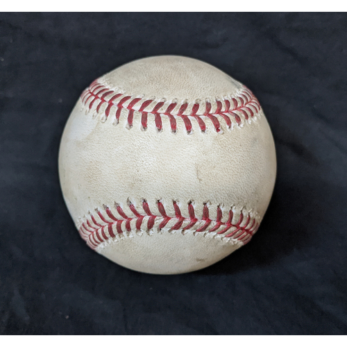Photo of Game-Used Ball 8/17/20 Mariners @ Dodgers; Pitcher Justin Dunn, Batter: Mookie Betts (HOMERUN)