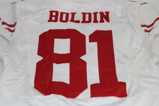 NFL Auction | 49ERS ANQUAN BOLDIN GAME USED 49ERS JERSEY 11/16/14