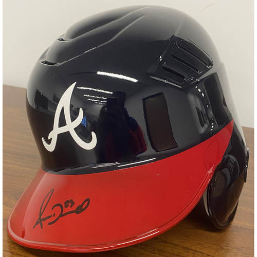 Photo of Adam Duvall Autographed Helmet