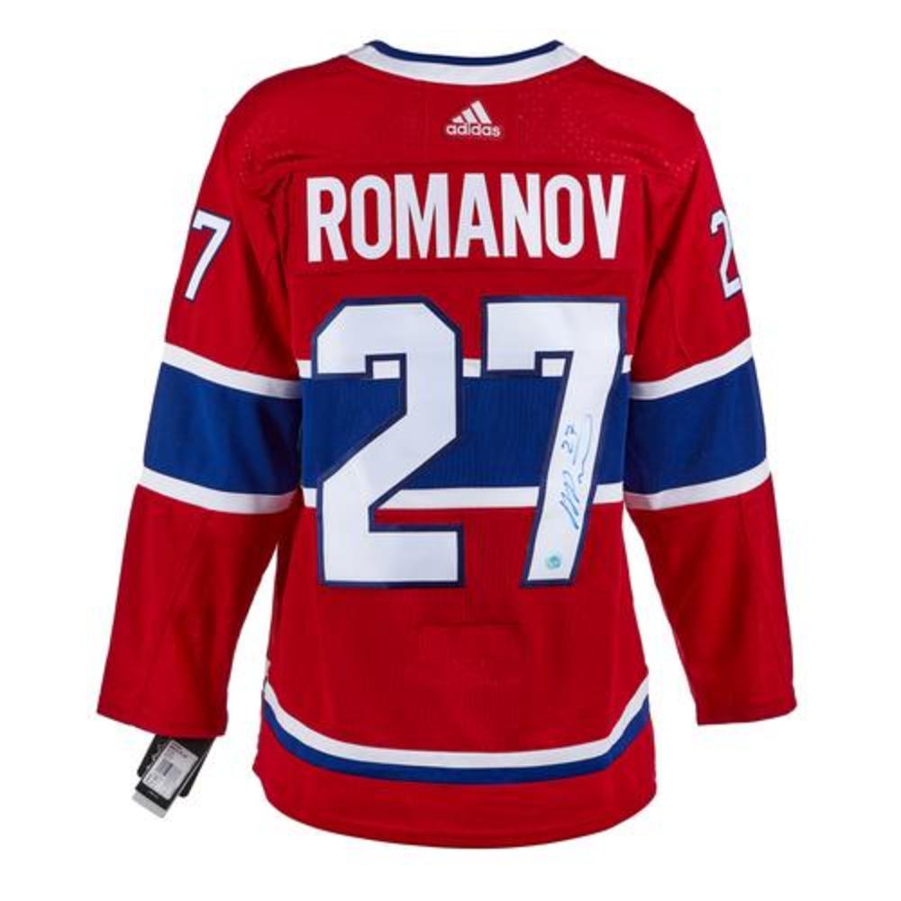 Alexander Romanov Montreal Canadiens Autographed Adidas Jersey