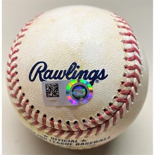 Photo of Game-Used Baseball: Shane Bieber Cleveland Indians Opening Day 2021 Pitch to Miguel Cabrera (MLB AUTHENTICATED)