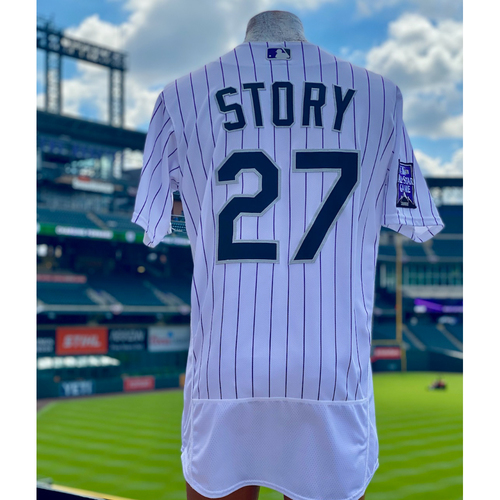 Photo of 2021 Game-Used Trevor Story Jersey - 4 games, 8 hits, 2 Home Runs (1 Walk-Off Home Run), 5 RBI's