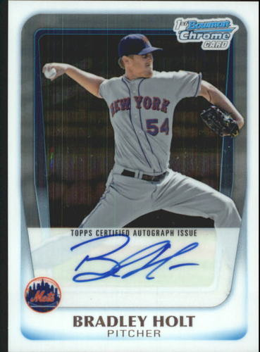 Photo of 2011 Bowman Chrome Prospect Autographs #BCP174 Brad Holt