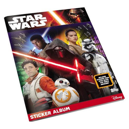 2016 TOPPS STAR WARS THE FORCE AWAKENS STICKERS STARTER ALBUM - 36 STICKERS INCLUDED