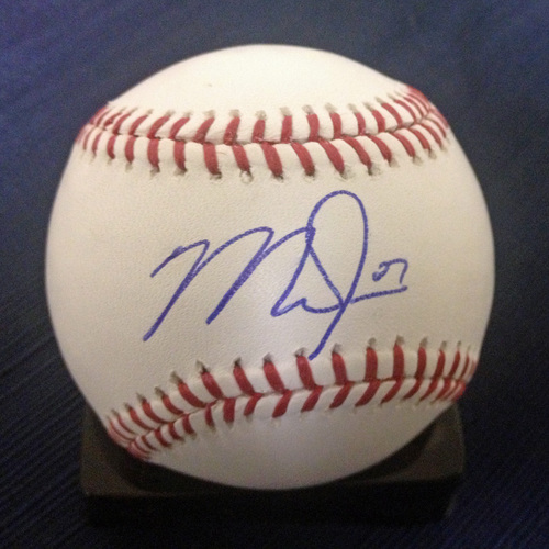 UMPS CARE AUCTION: Mike Trout Signed Baseball