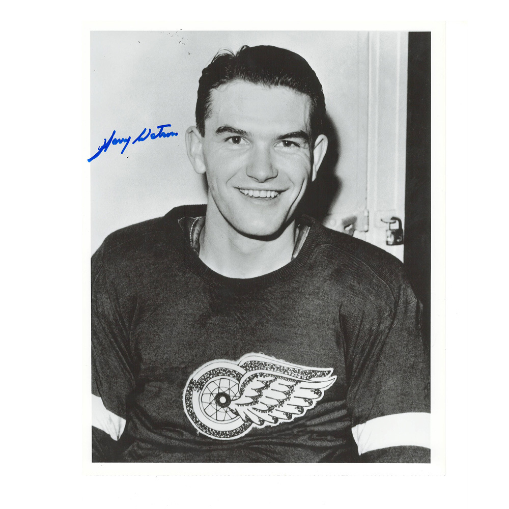 HARRY WATSON Signed Detroit Red Wings 8 X 10 Photo - 70375